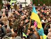 """Львовяне с оркестром встретили батальон теробороны """"Воля"""""""