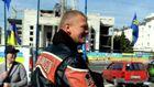 Швайка на крутом байке собирает деньги на военный госпиталь