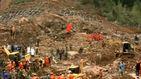 В Китае оползень похоронил под землей более двух десятков домов