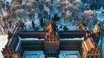 Як виглядає один з найкращих університетів України з висоти взимку: вражаюче відео
