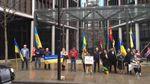 Українці влаштували пікет під елітною нерухомістю Ахметова у Лондоні: фото