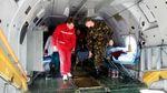 До Львова прибув літак з пораненими військовими