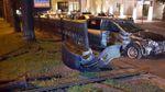 Через мотоцикліста авто влетіло у паркан у Києві