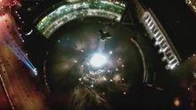 Лучи достоинства на Майдане: впечатляющее видео с высоты птичьего полета