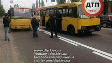 Две маршрутки столкнулись в Киеве: заторы около 5 километров