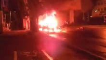Появилось видео сильного взрыва в Донецке