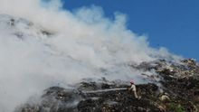 Наслідки трагедії на сміттєзвалищі під Львовом: з'явилося відео повітряної зйомки