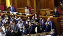 Радикалы устроили демарш, когда в Раду пришел Порошенко