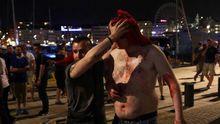 Российские и английские фанаты устроили массовое побоище