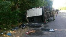 Маршрутка перекинулась під Маріуполем: багато постраждалих