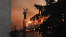 Масштабный пожар произошел во Львовской области