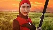 Красно-черное платье и оружие: участница АТО показала удивительную фотосессию