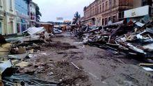 Ночью в центре Днепра бульдозерами снесли рынок