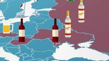 Какое место занимает Украина по количеству употребления алкоголя