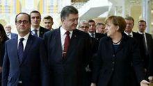 Без Путина. Порошенко, Меркель и Олланд сверили формат выполнения минских соглашений