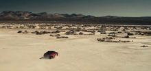 Как автомобилем нарисовать портрет огромного колибри на песке