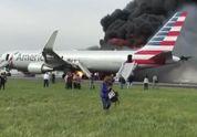 В Чикаго загорелся самолет с пассажирами: появилось видео