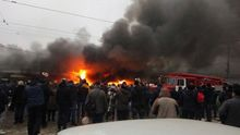 """Сильный пожар на одесском рынке """"Привоз"""": появились фото и видео"""