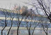 Большой завод загорелся в Харькове