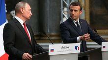 Сказав Путіну все, що думаю, – Макрон підбив підсумки зустрічі