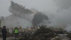 Появились жуткие фото с места падения турецкого самолета в Киргизии