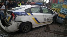 Полицейская машина совершила двойное ДТП в Одессе: есть пострадавшие