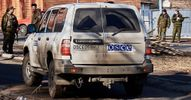 Авто ОБСЄ потрапило під обстріл
