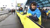 В Киеве создали живую цепь по случаю Дня Соборности Украины
