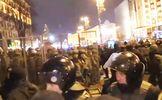 В столкновениях в Киеве пострадали люди, однако схватки прекратились