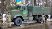Вантажівка з бійцями АТО підірвалась на Донбасі