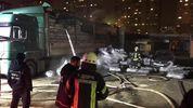 В грузовике произошло возгорание на парковке в Киеве