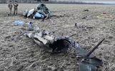 Военные сняли на видео место крушения вертолета под Краматорском