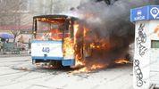 Трамвай з пасажирами спалахнув у Запоріжжі: оприлюднили видовищні фото