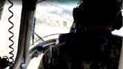 Унікальне відео з кабіни військового вертольота, що впав біля Краматорська