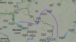 Flightradar показав, як літак Порошенка прилетів до Ростова