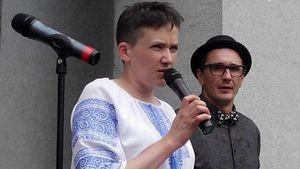 Савченко у Запоріжжі підняли краном