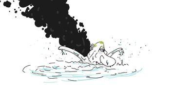 """Карикатурист остроумно высмеял задымленный """"поход""""  флота Путина"""