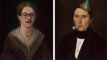 Художник вміло домальовує сучасні елементи до старих картин: цікаві фото