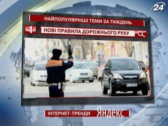 """Пользователей """"Яндекс"""" заинтересовали новые правила дорожного движения в Украине"""