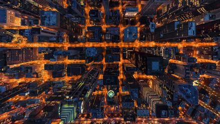 Перехватывает дыхание: как выглядят грозные мегаполисы с высоты птичьего полета