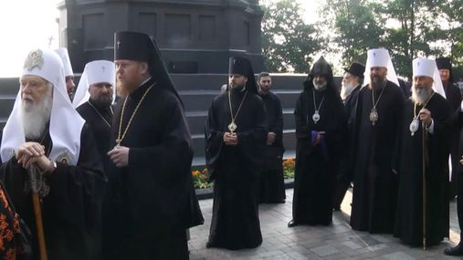 Політична і духовна еліта в одному місці: як пройшли урочистості на Володимирській гірці