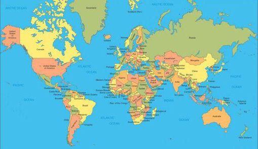 Юзер зробив карту світу із словами, які найбільше повторюються в кожній країні
