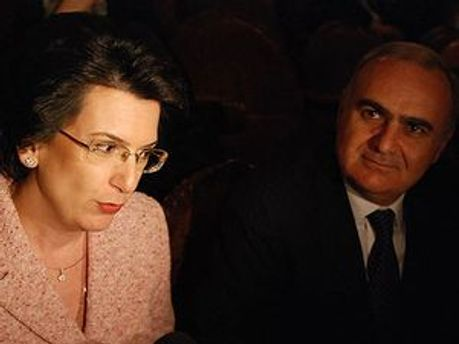 Нино Бурджанадзе и Бадри Бицадзе