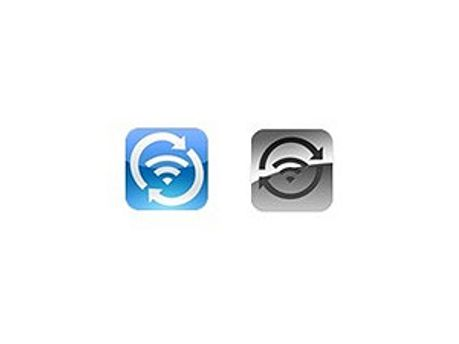 Слева - иконка программы студента, справа - Apple