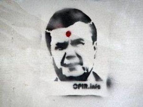 Зображення на одній із стін у Львові