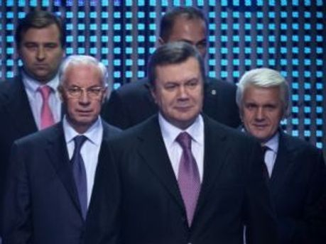 Николай Азаров, Виктор Янукович, Владимир Литвин