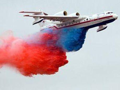Російський літак, який має здійснювати шоу