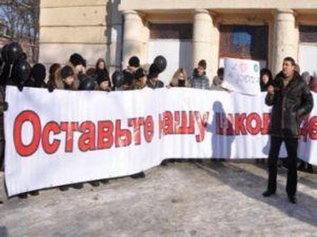 Родители на протестах в феврале