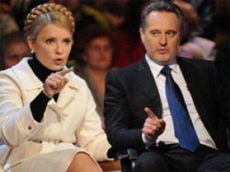 Юлія Тимошенко та Дмитро Фірташ