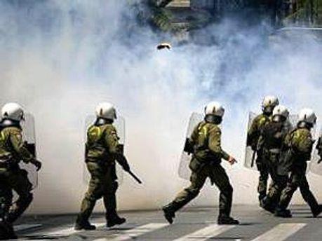 Полиция применяла слезоточивый газ